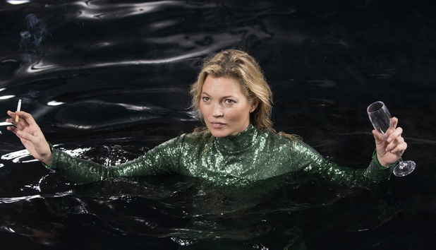 Absolutely Fabulous: The Movie still with Kate Moss
