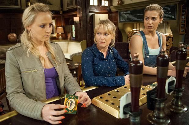 Emmerdale, Tracy in trouble with Vanessa and Carly, Fri 8 Jul