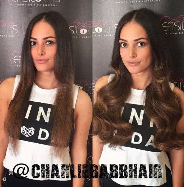 TOWIE's Courtney Green shows off her new hair after getting Easilocks extensions, 29th June 2016