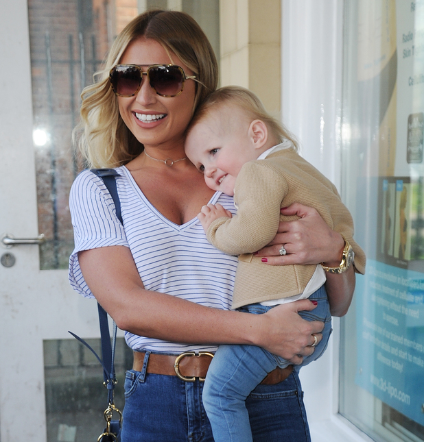 Billie Faiers with daughter Nelly at Amy Childs salon launch, Essex 12 April