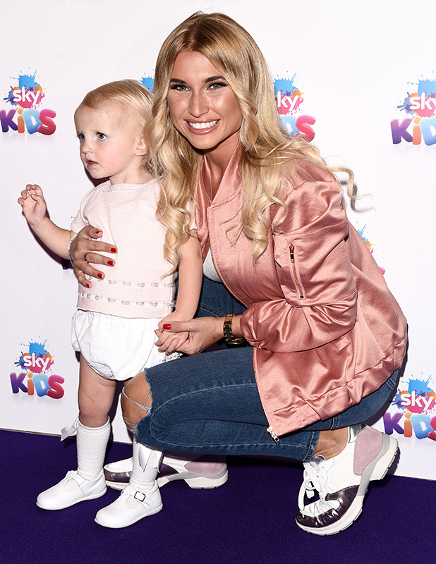 Billie Faiers and daughter Nelly in London, 2016