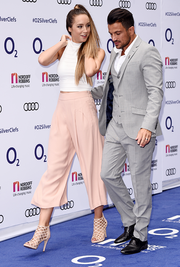 O2 Silver Clef Awards held at the Grosvenor House Peter Andre and Emily MacDonagh 1 July 2016
