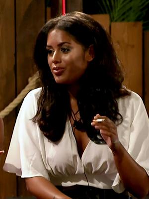 Malin on ITV reality show 'Love Island'. Broadcast on ITV2 HD.