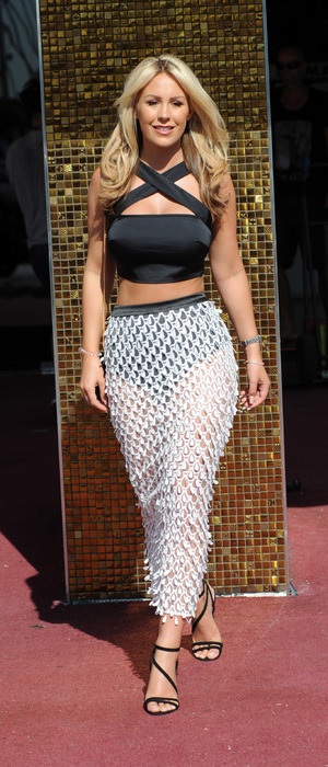 TOWIE's Kate Wright wears see-through skirt during filming for the new series of The Only Way Is Essex in Majorca, 7th June 2016
