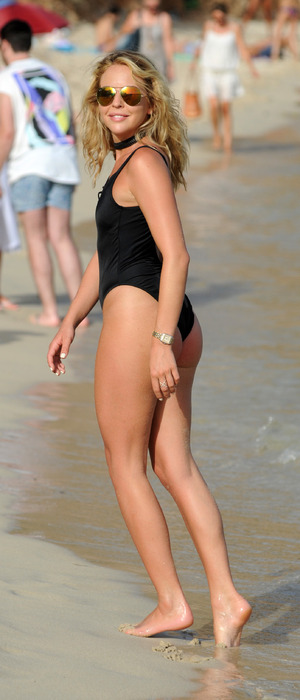 TOWIE star Lydia Bright pictured filming the new series of The Only Way Is Essex in swimsuit, in Palma, Majorca, 4th July 2016