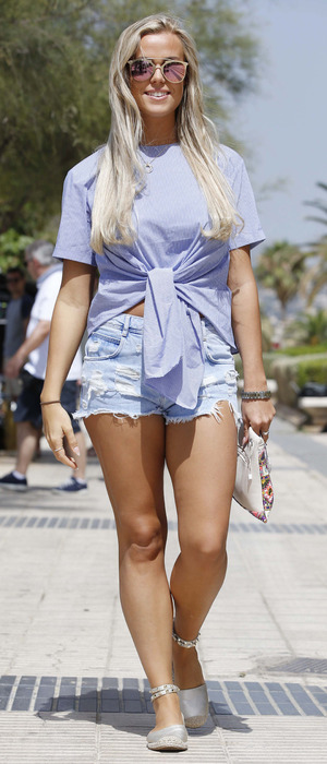 TOWIE star Chloe Meadows spotted filming the new series of the Only Way Is Essex in Majorca, 4th July 2016