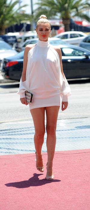 TOWIE star Chloe Sims walking to Tito Nightclub in Majorca, Spain, 6th July 2016