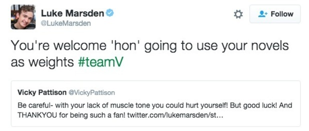 Luke Marsden and Vicky Pattison fallout on Twitter 5 July
