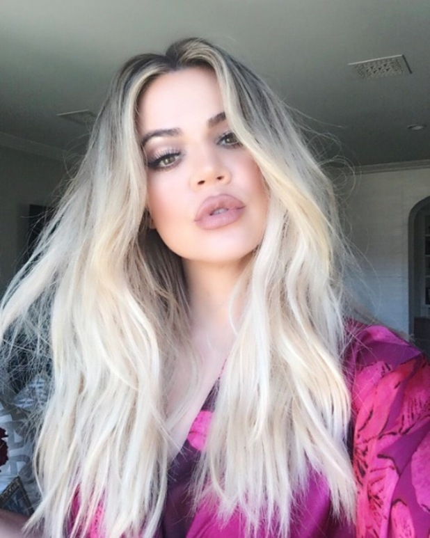 Khloe Kardashian shows off her white-blonde hair, 7th July 2016
