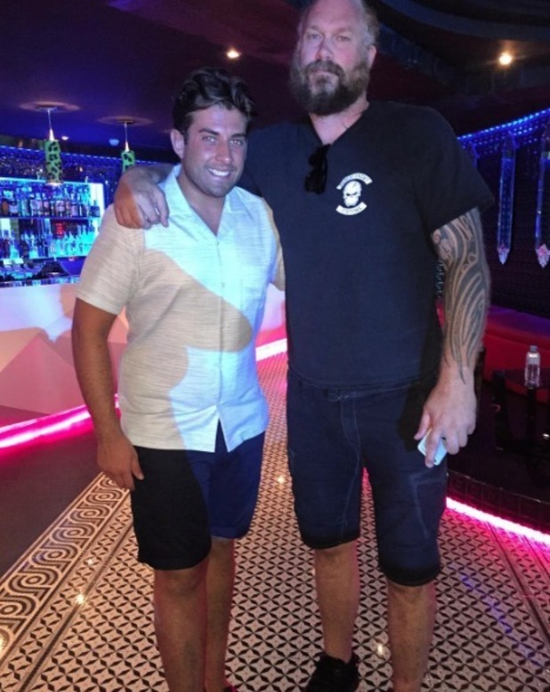 James 'Arg' Argent poses with Kim and Kanye's bodyguard in Majorca - 6 July 2016