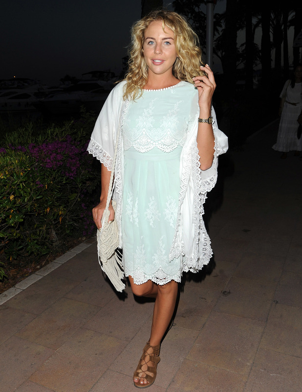 TOWIE's Lydia Bright wears dress from her very own clothing boutique, Bella Sorella in Majorca, 5th June 2016