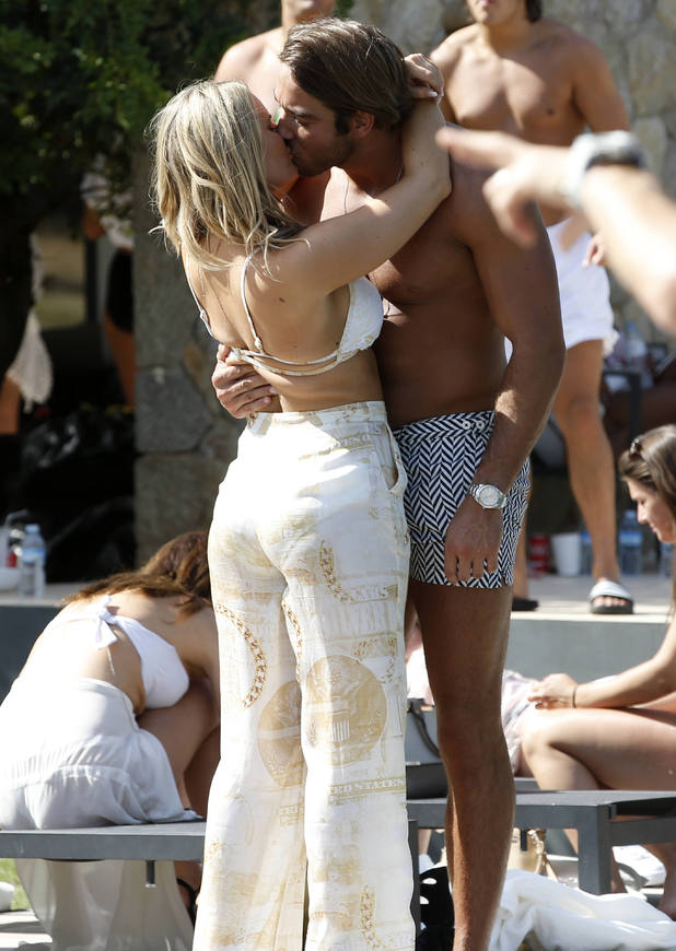 Danielle Armstrong and James Lock, TOWIE filming in Palma, Mallorca 2 July