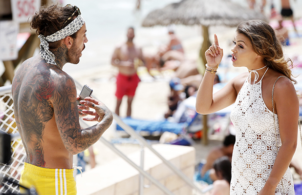 'The Only Way is Essex' cast, Palma, Mallorca, Spain - 08 Jul 2016 Peter Wicks and Chloe Lewis