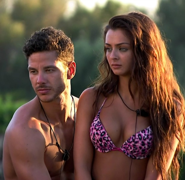 Scott Thomas and Kady McDermott, a contestant on ITV reality series 'Love Island'. Broadcast on ITV2 HD.