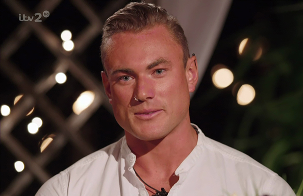Tom Powell speaking after he was eliminated from the ITV reality show 'Love Island'. Broadcast on ITV2 HD.