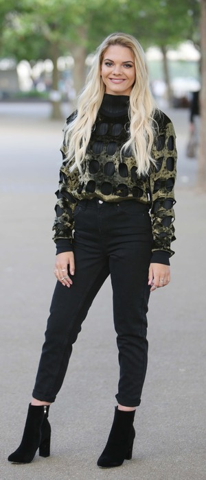 X Factor winner Louisa Johnson singing with Clean Bandit outside the ITV Studios in London, 15th July 2016