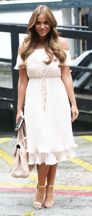 Vicky Pattison outside ITV Studios in London after appearing on Loose Women, 13th July 2016
