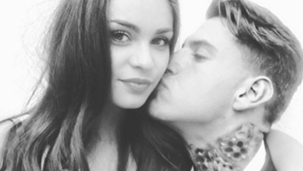 Love Island's Terry Walsh and Emma-Jane Woodhams at the wrap party 15 July 2016