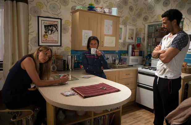 Corrie, Maria invites Caz to move in, Mon 18 Jul
