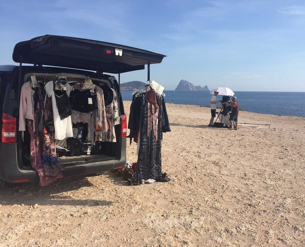 Location in Ibiza for Road trip shoot 11th July 16