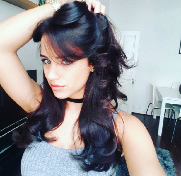 Georgia May Foote shows off her much darker hair on Instagram, 11th July 2016