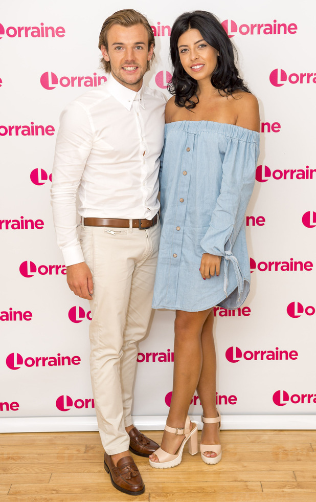 Love Island's Cara De La Hoyde and Nathan Massey appear on ITV's Lorraine, 15th July 2016