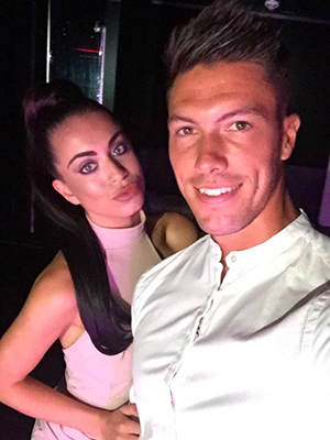 Love Island's Adam Maxted and Katie Salmon at the wrap party 15 July 2016