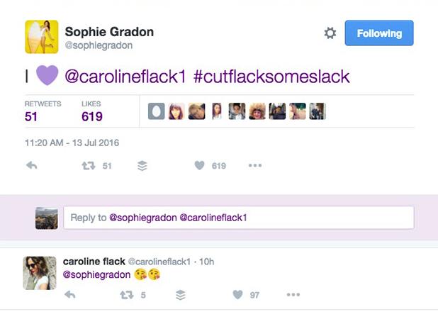 Love Island: Sophie Gradon defends Caroline Flack 13 July 2016