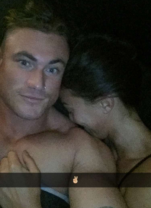 Love Island's Sophie Gradon and Tom Powell share smitten Snapchats from bed 13 July 2016