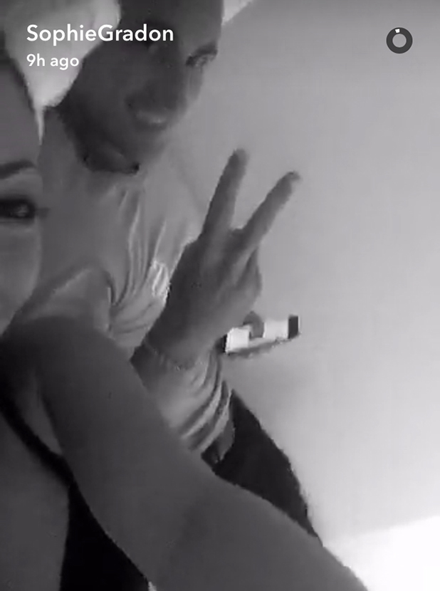 Love Island's Sophie and Tom in a Snapchat video 11 July 2016