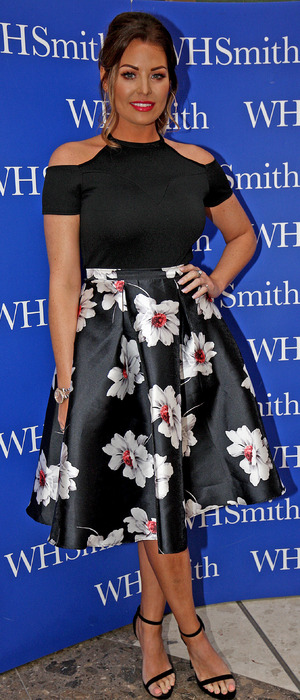 Former TOWIE star Jessica Wright signs copies of her new novel, Sparkling Stars, Thurrock, UK, 20th July 2016
