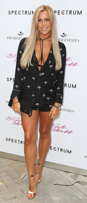 TOWIE's Chloe Meadows at the Spectrum make-up brushes event, 21st July 2016