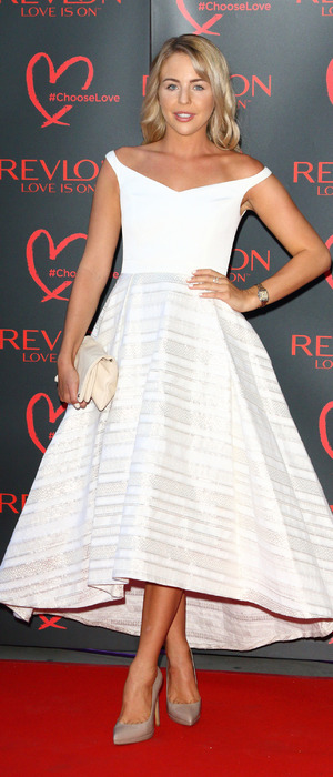 TOWIE's Lydia Bright at the Revlon launch party at the Victoria and Albert Museum in London, 21at July 2016