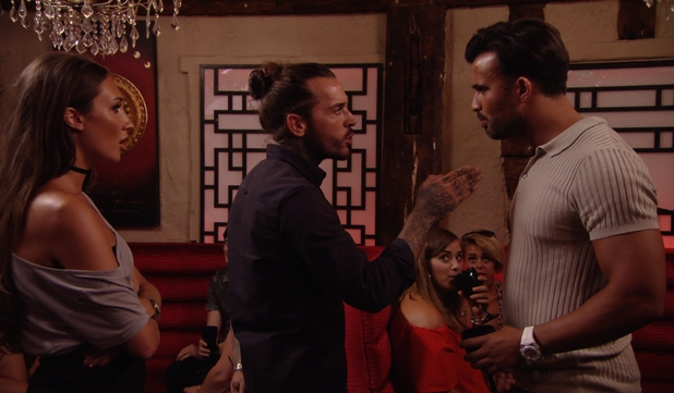 Megan McKenna and Pete Wicks confront Mike Hassini - 24 July 2016