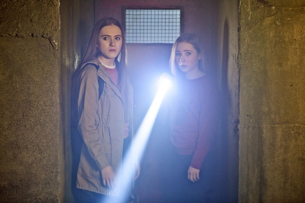 Hollyoaks, Nico and Peri trapped in a bunker, Tue 26 Jul