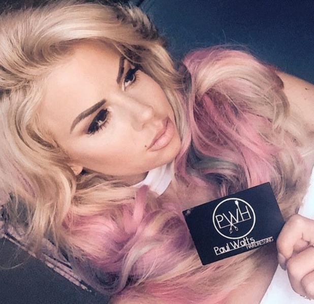 Love Island's Hannah Elizabeth shows off her mermaid hair on Instagram, 18th July 2016