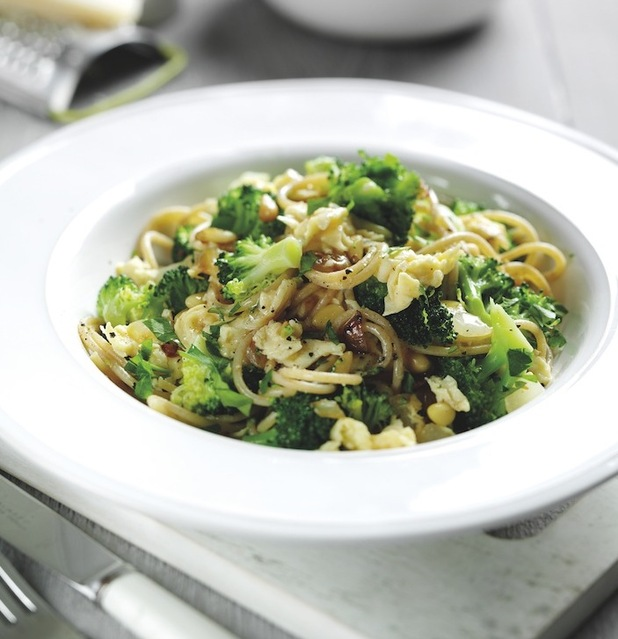 Spaghetti with Egg and Broccoli - recipe produced by former TOWIE star Lucy Mecklenburgh and eggrecipes.co.uk