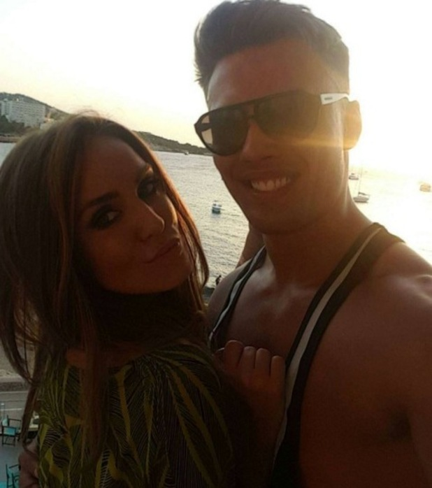 Vicky Pattison and Jordan Wright in Ibiza July 2016