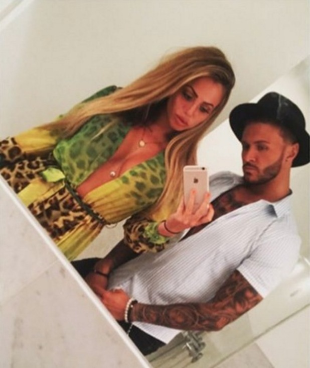 Holly Hagan and Kyle Christie pose for a selfie, Instagram 22 July
