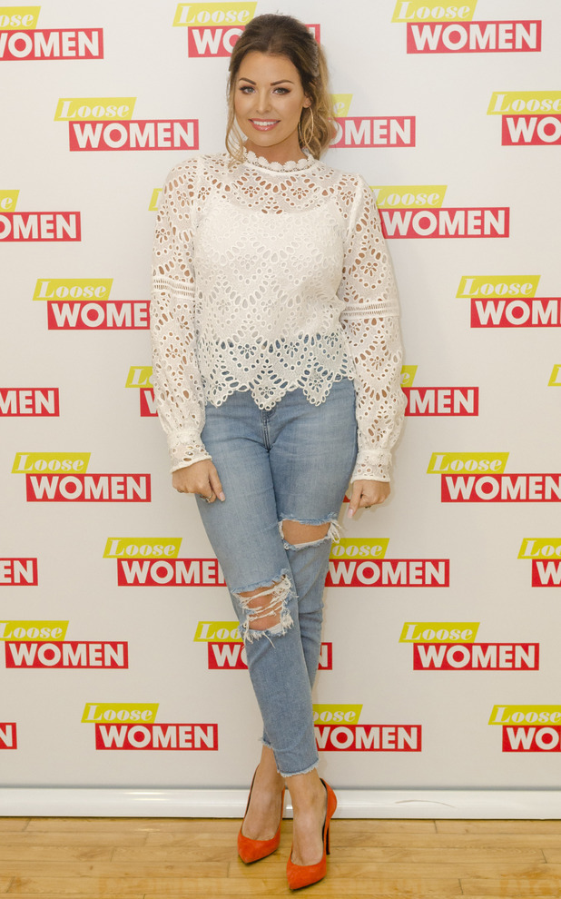 Former TOWIE star Jessica Wright appears on Loose Women, London, 20th July 2016