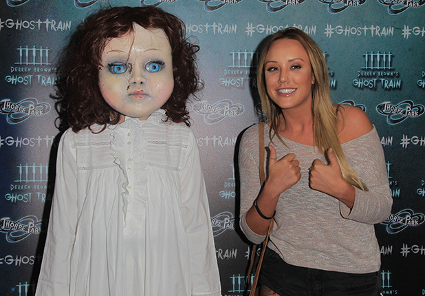 Thorpe Park's latest ride, Derren Brown's Ghost Train Launch Charlotte Crosby 21 July 2016