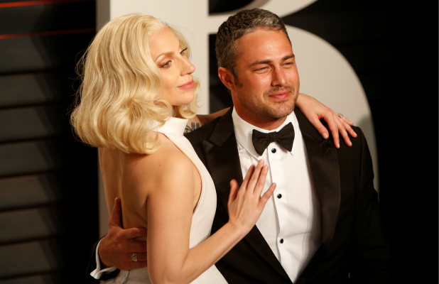Vanity Fair Oscar Party at Wallis Annenberg Center for Performing Arts - Arrivals Lady Gaga and Taylor Kinney