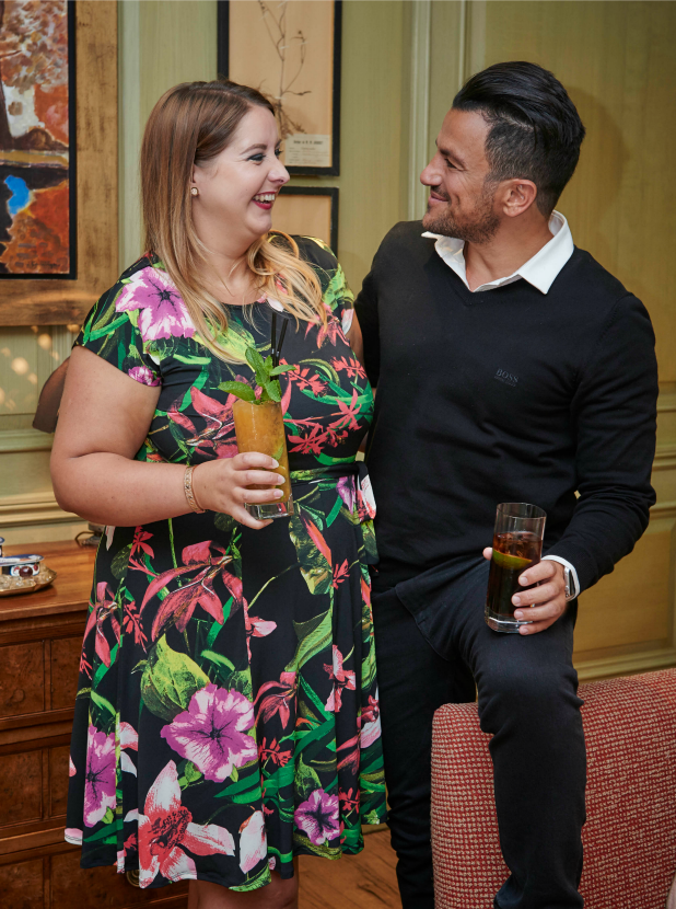 Peter Andre treats competition winner Catherine to a day out in London 20 July 2016