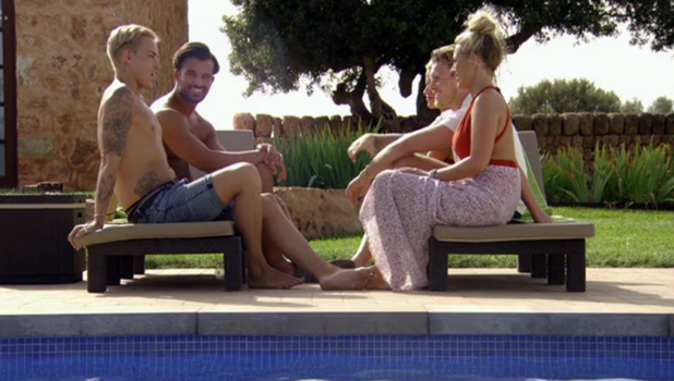 TOWIE Series 18, Episode 2 Mike Hassini talks to Bobby, Georgia, Kate and Tommy Aired 20 July 2016