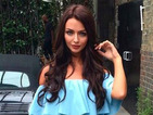 Get the look! Love Island's Kady McDermott goes glam in baby blue Bardot dress