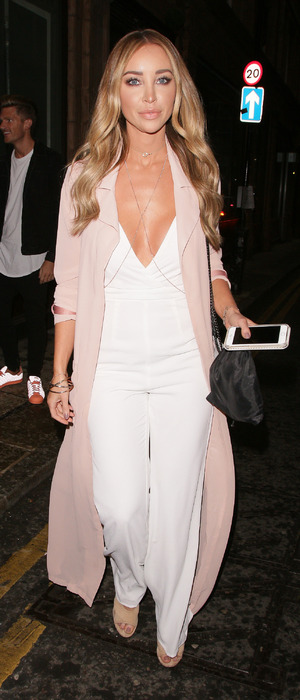 Former TOWIE star Lauren Pope attends the Mark Hill Pick 'N' Mix launch party in London, 27th July 2016