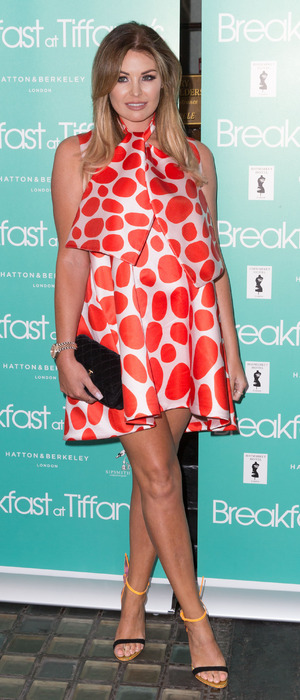 Former The Only Way Is Essex star Jessica Wright (Jess Wright) attends the Breakfast At Tiffany's after party in London, 25th July 2016