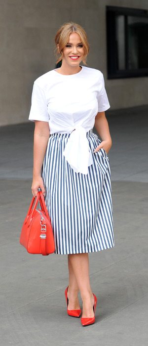 Geordie Shore's Vicky Pattison spotted outside BBC Radio 1 in London, 27th July 2016
