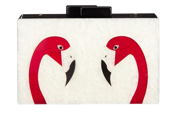 John Lewis Flamingo Box Clutch Bag £49, 29th July 2016