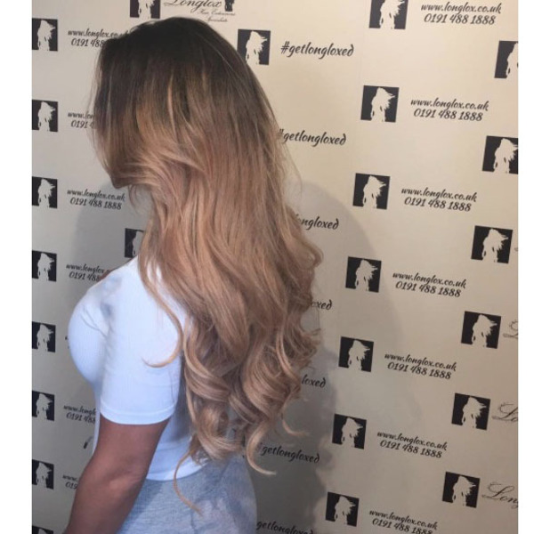 Geordie Shore's Chantelle Connelly takes to Instagram to show off her longer much lighter extensions, 27th July 2016